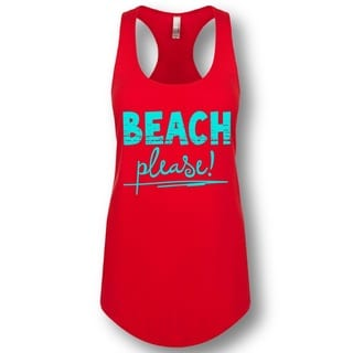 """Beach Please!"" Ladies' Racerback Tank Top"