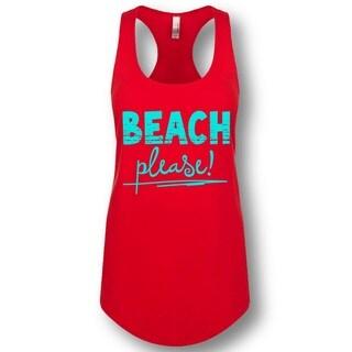 """""""Beach Please!"""" Ladies' Racerback Tank Top"""