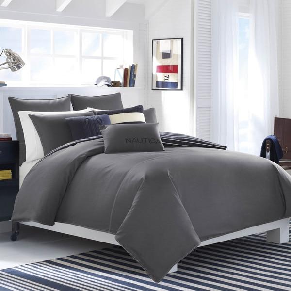 Nautica Seaward Charcoal Cotton Comforter Set