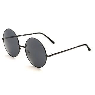 POP Fashionwear Retro Vintage P2046 Unisex Round Metal Frame Oversized Lens Sunglasses