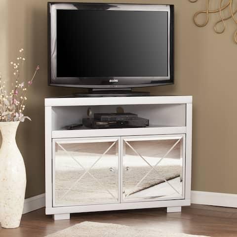 Minna Mirrored Corner TV Stand