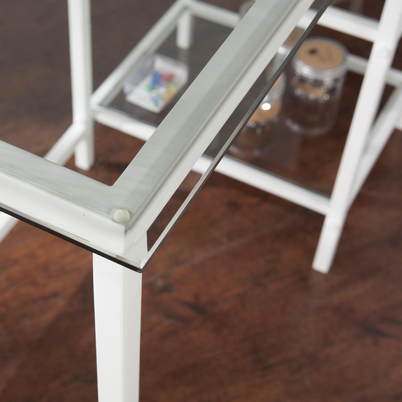 Lynnwood Metal Glass Student Desk White Overstock 15297124