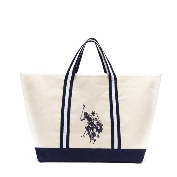 Shop U.S. Polo Association Canvas Summer Tote Bag - Free Shipping On ... 0e1c99112772b
