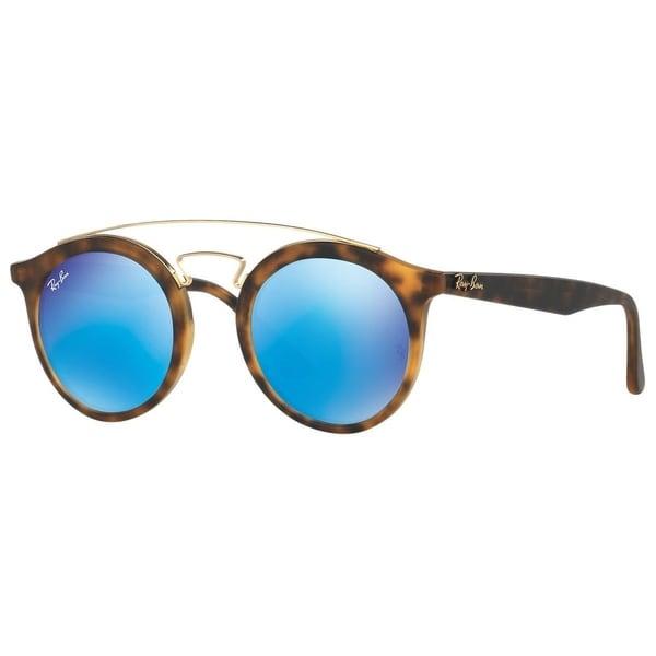 5754291f685 Ray-Ban Gatsby I RB4256 609255 Unisex Tortoise Frame Blue Mirror 49mm Lens  Sunglasses