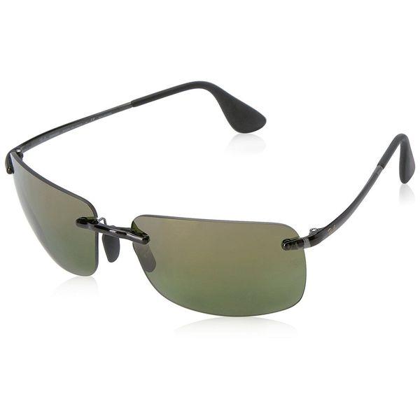 b6462e065c Shop Ray-Ban RB4255 621 6O Men s Rimless Polarized Green Mirror ...