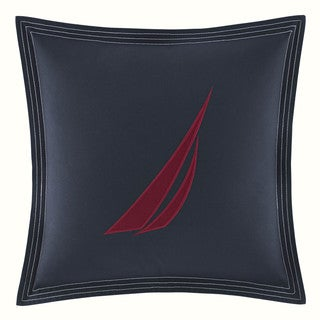 Nautica Seaward Navy Square Pillow