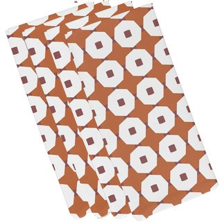 Button Up Geometric Print Napkin
