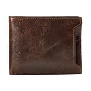 Fossil Derrick Sliding 2-in-1 Bifold Mens Brown Wallet