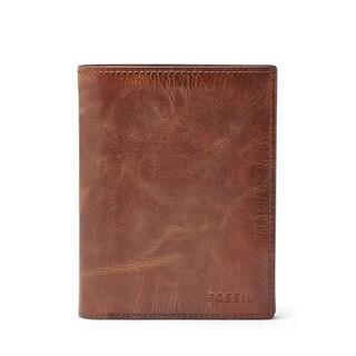 Fossil Men's Derrick RFID International Combination Brown Bifold Wallet