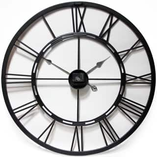 Infinity Instruments Black and Bronze Metal Fusion 28-inch Wall Clock|https://ak1.ostkcdn.com/images/products/15297245/P21764887.jpg?impolicy=medium