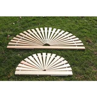 Pressure Treated Pine Outdoor Sun Burst Floor Mat - Amish Made