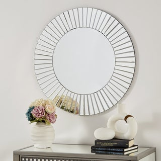 Abilene Round Mirrored Frame Wall Mirror by iNSPIRE Q Bold