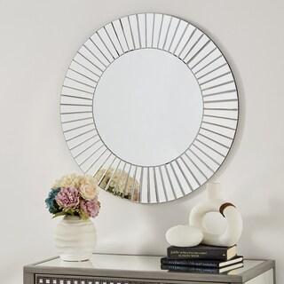 Abilene Round Mirrored Frame Wall Mirror by iNSPIRE Q Bold