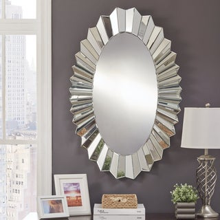 Abney Oval Mirrored Frame Wall Mirror by iNSPIRE Q Bold