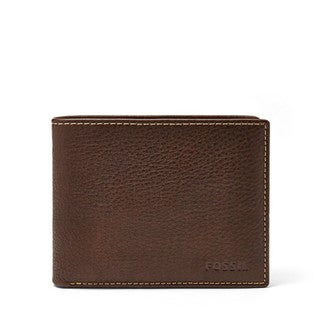 Fossil Lincoln Passcase Brown Mens Bifold Wallet
