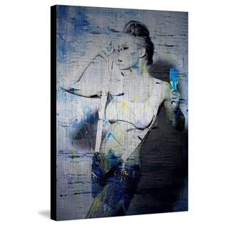 Suspenders' Painting Print on Brushed Aluminum