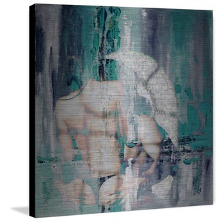 Black Thong' Painting Print on Brushed Aluminum