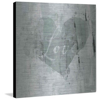 Green Heart Love' Painting Print on Brushed Aluminum