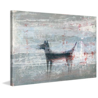 Dark Dog' Painting Print on Wrapped Canvas