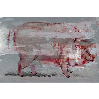 Red Pig' Painting Print on Wrapped Canvas