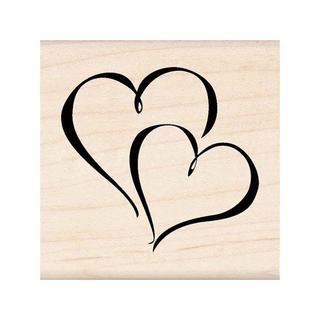 Inkadinkado Wood Stamp Hearts
