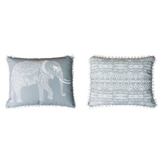 Emmet Elephant Pom Pom Throw Pillow