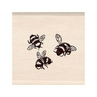 Inkadinkado Wood Stamp 3 Bees