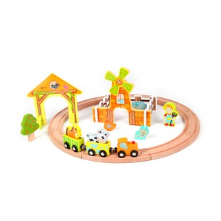Classic World Toys Wood Farm Train Set