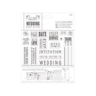 Docrafts PMania Wedding Clear Stamp Sentiments