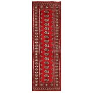 Herat Oriental Pakistani Hand-knotted Bokhara Wool Runner (2'6 x 7'8)