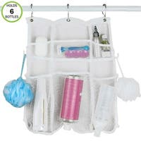 Evelots Quick-Dry Hanging Shower Caddy with 6 Pockets