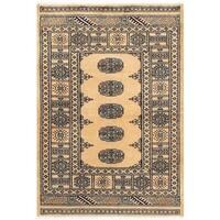 Handmade Herat Oriental Pakistani Bokhara Wool Rug  - 3'1 x 4'4 (Pakistan)