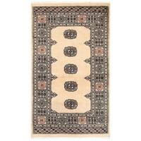 Handmade Herat Oriental Pakistani Bokhara Wool Rug - 3'1 x 5'2 (Pakistan)
