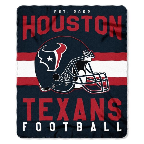 NFL 031 Texans Singular Fleece Throw