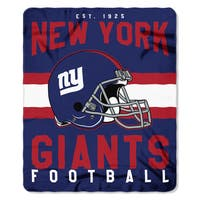 NFL 031 NY Giants Singular Fleece Throw