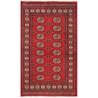 Herat Oriental Pakistani Hand-knotted Bokhara Wool Rug (3'1 x 5'2)