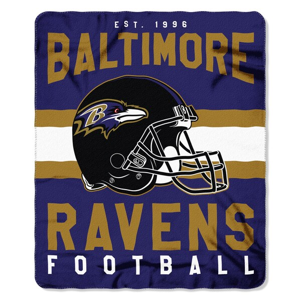 NFL 031 Ravens Singular Fleece Throw
