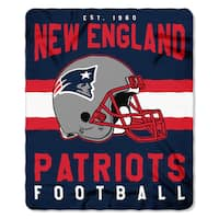 NFL 031 Patriots Singular Fleece Throw