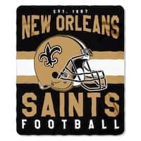 NFL 031 Saints Singular Fleece Throw