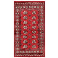 Herat Oriental Pakistani Hand-knotted Bokhara Wool Rug (3' x 5'4)