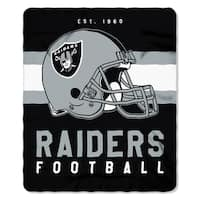 NFL 031 Raiders Singular Fleece Throw