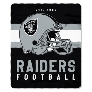 NFL 031 Raiders Singular Fleece Throw