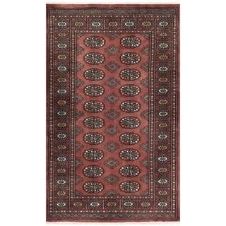 Herat Oriental Pakistani Hand-knotted Bokhara Wool Rug (3'3 x 5'2)