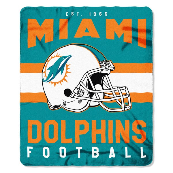 NFL 031 Dolphins Singular Fleece Throw