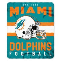 NFL 031 Dolphins Singular Fleece Throw