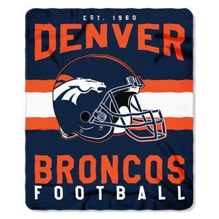 NFL 031 Broncos Singular Fleece Throw