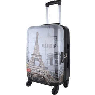 Oh La La Eiffel Tower 28-inch Expandable Hardside Spinner Suitcase