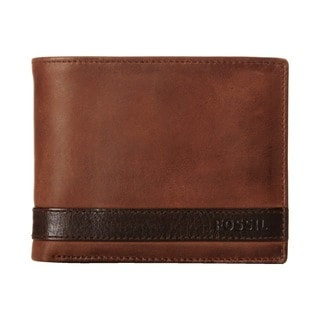Fossil Quinn Passcase Brown Wallet