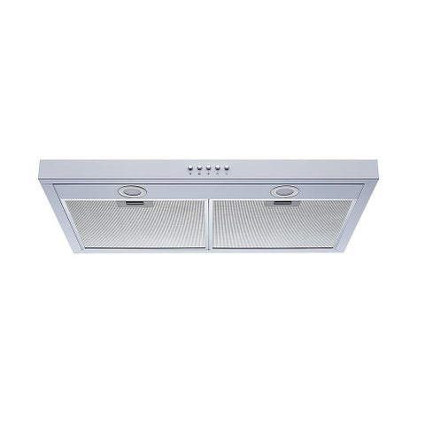 "Winflo O-W109C30W 30"" Slim Design Under Cabinet Range Hood in White"