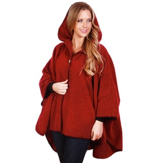 Mazmania Women's Red Looped Wool Cape